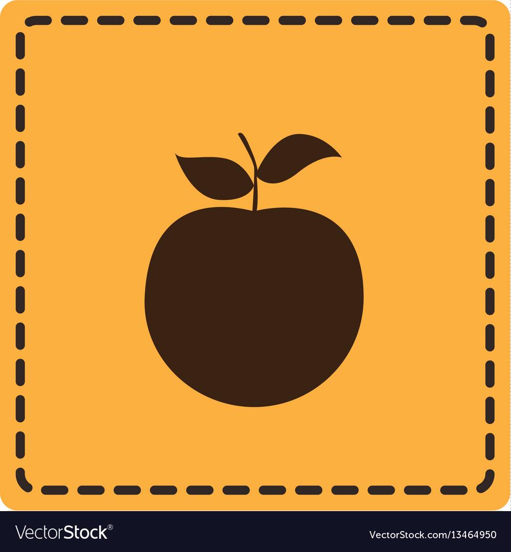 Yellow emblem apple fruit icon