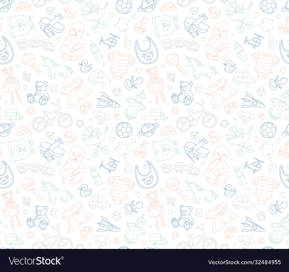 Bagoods store seamless background pattern