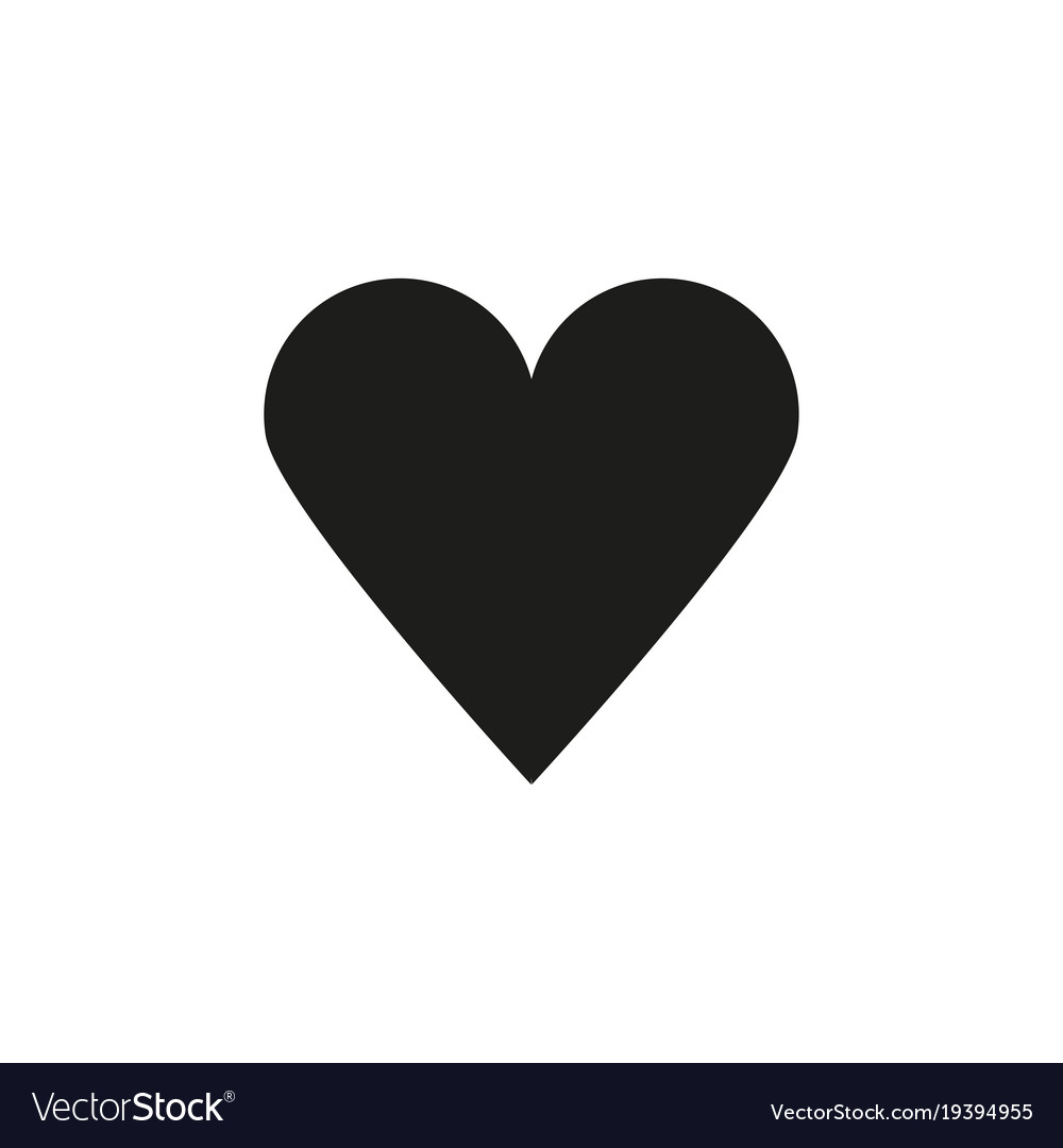 black heart icon royalty free vector image vectorstock