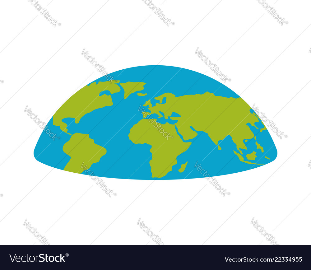 Flat Earth Map Download.Flat Earth Planet Semicircle Universe Royalty Free Vector