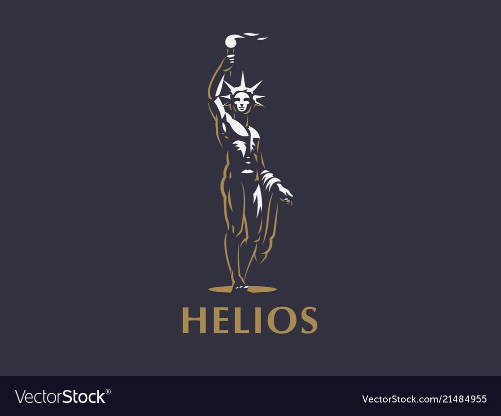 Helios The Sun God Vector Image