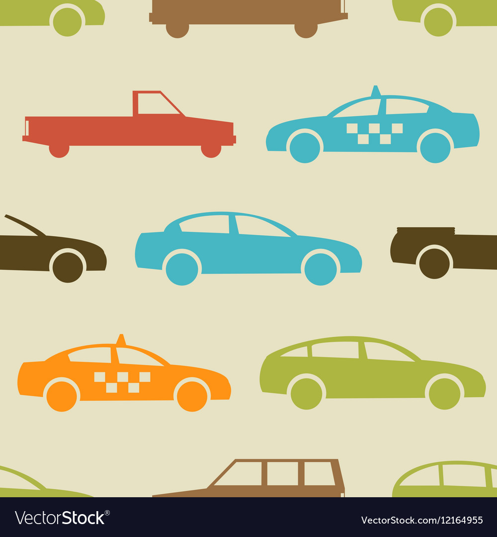 Retro car seamless pattern