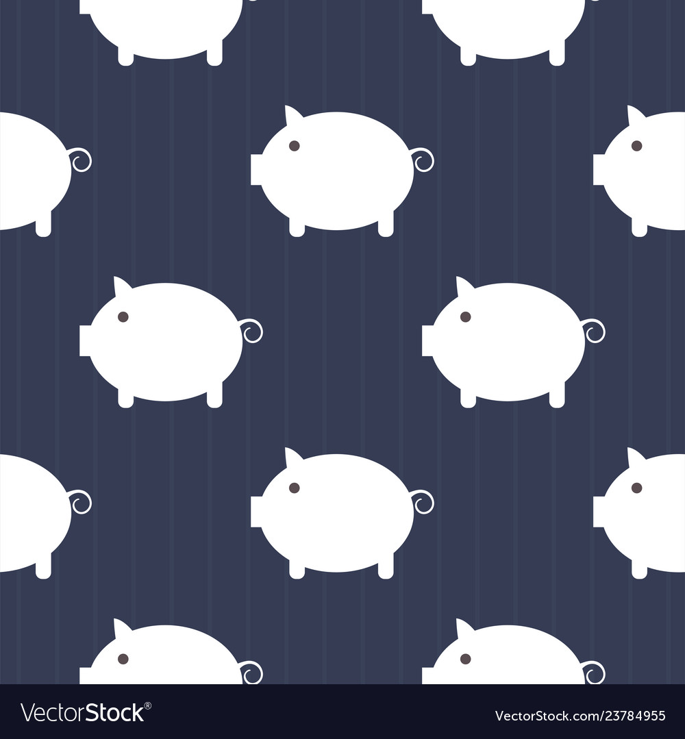 Seamless pattern cute piggy art background design
