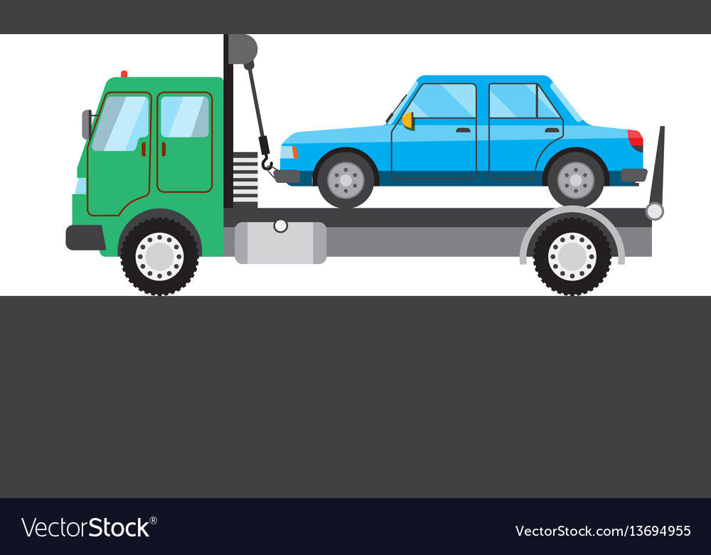 Tow truck with car picture