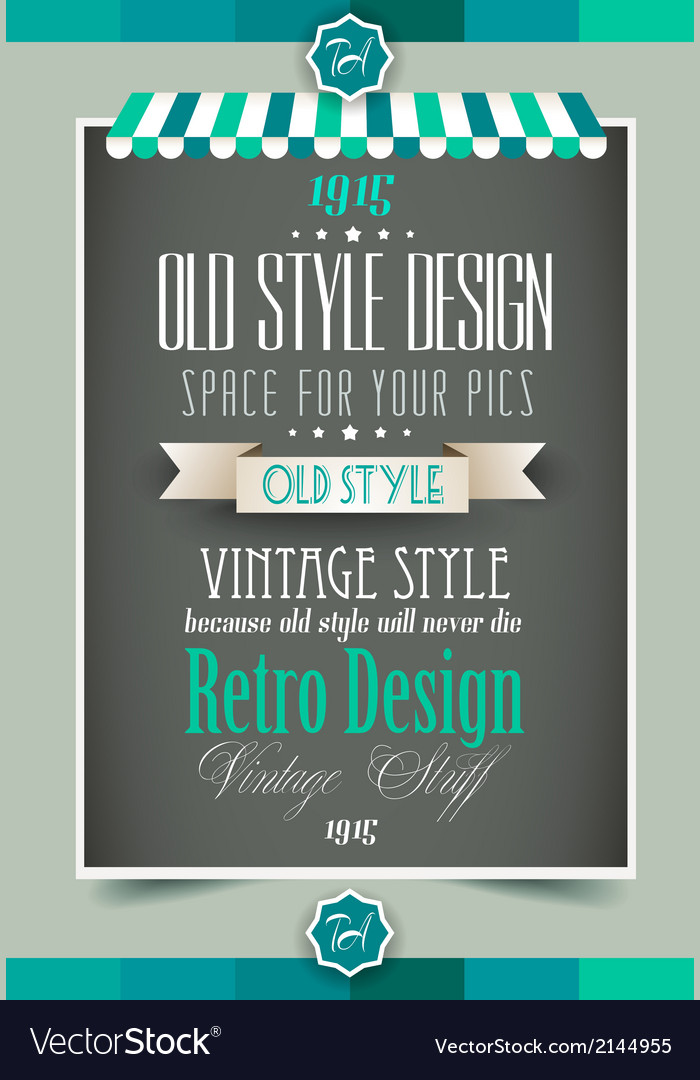 vintage retro page template royalty free vector image