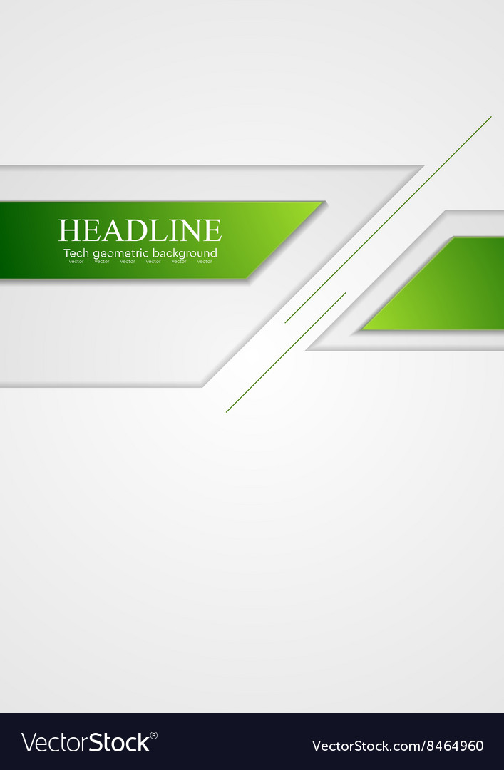 Abstract green grey tech corporate background