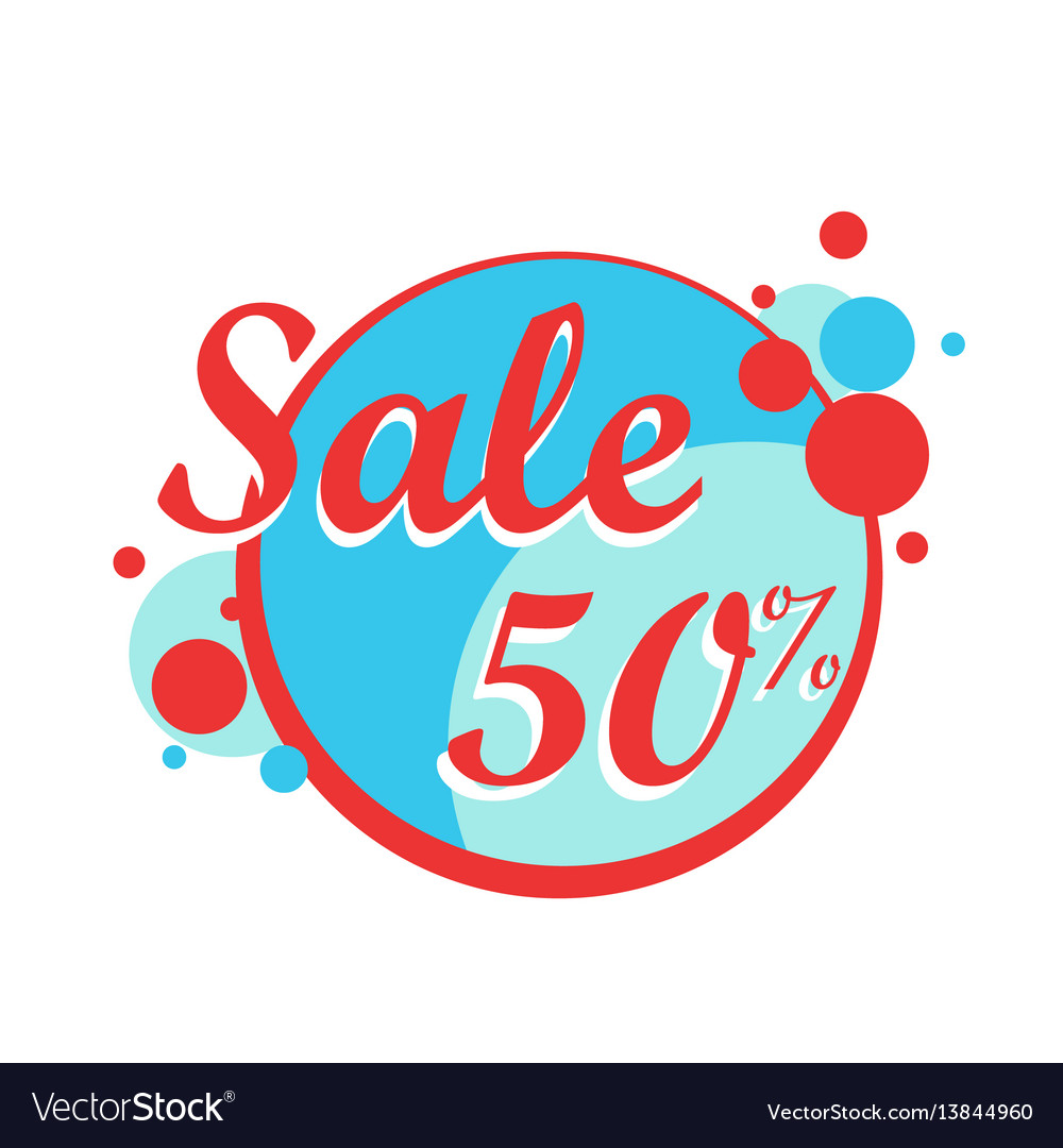 Colorfull sale icon in a circle poster banner