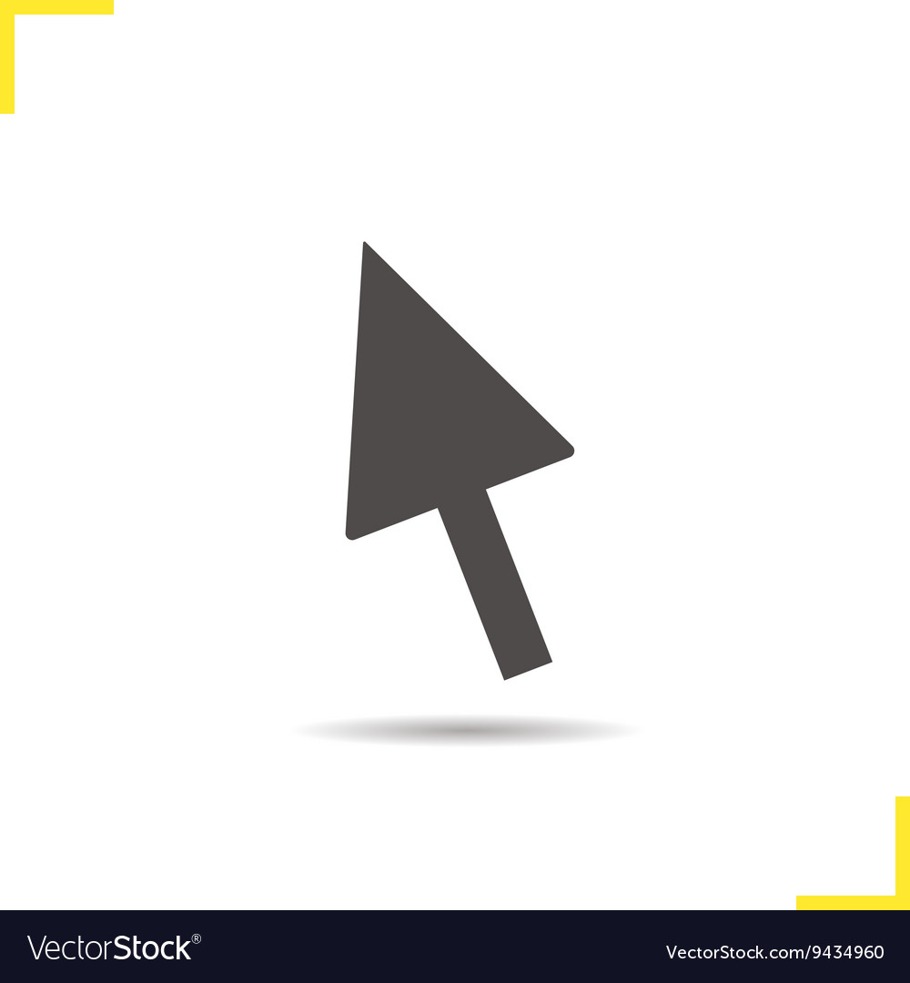 Computer mouse arrow icon vector image