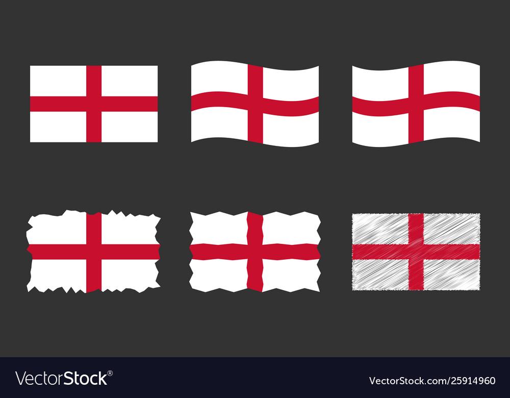 England flag set official