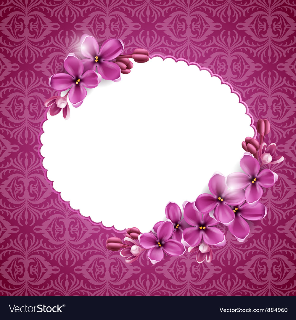 Floral Background In Pink Royalty Free Vector Image