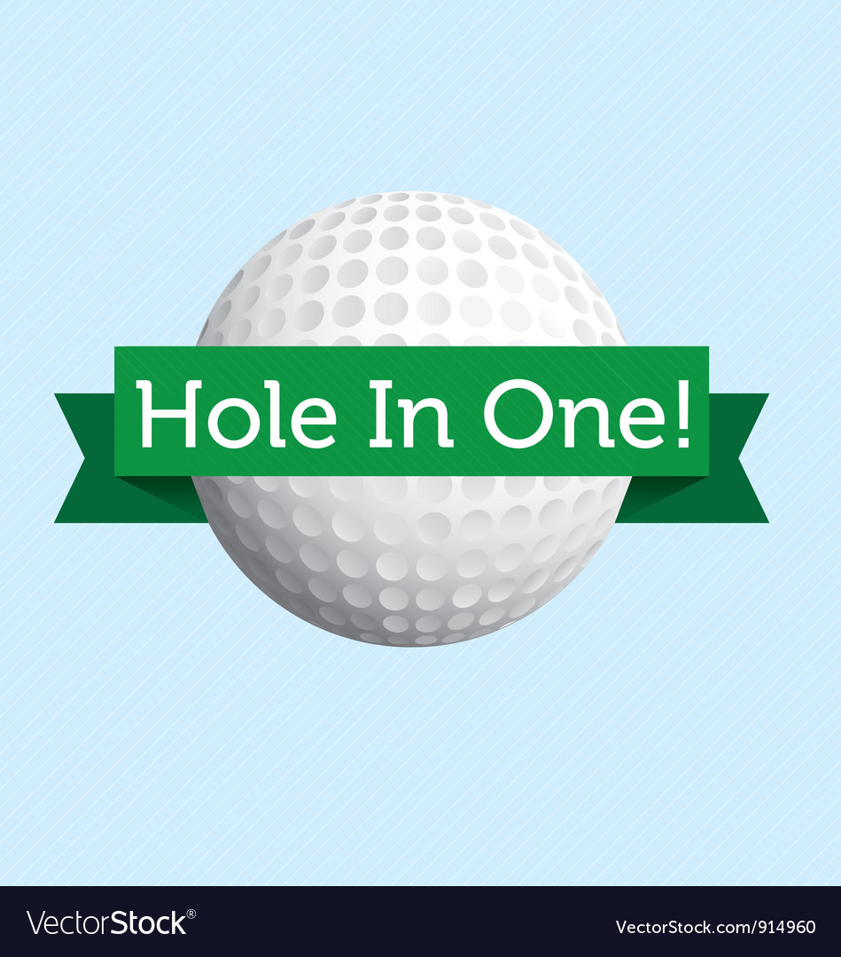 Hole in One vector image