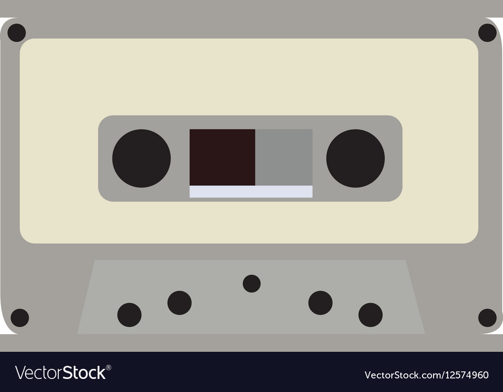 Isolated retro cassette vector image