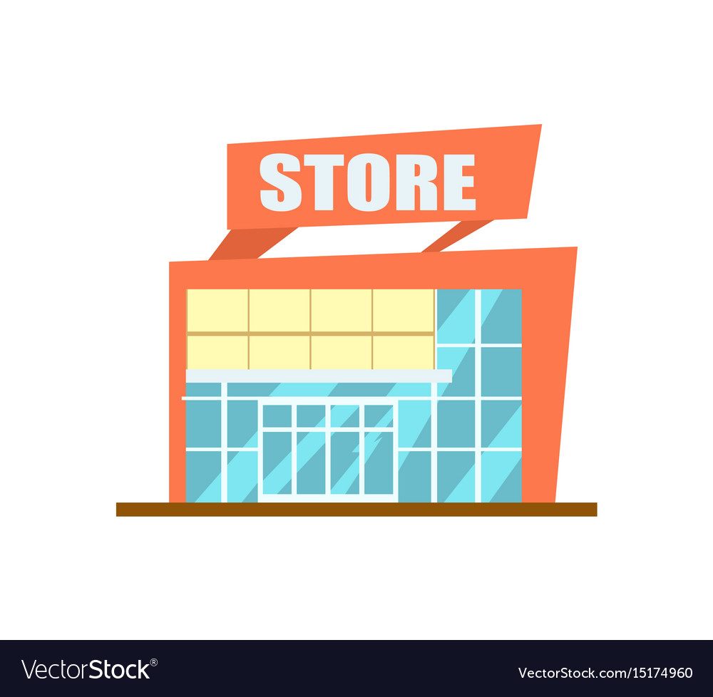 Modern store building isolated icon