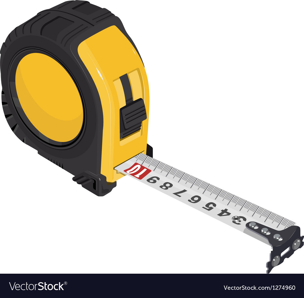 Single Tape measure vector image