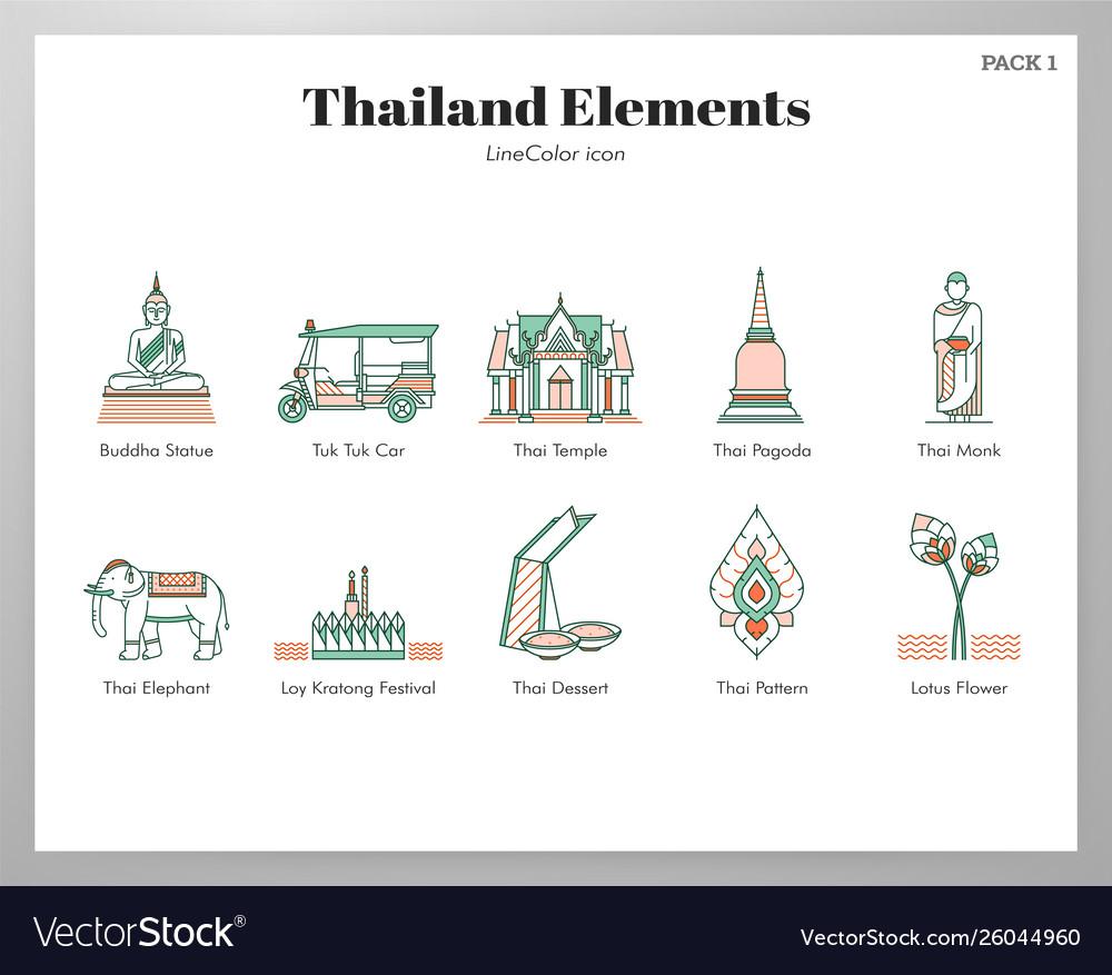 Thailand elements linecolor pack