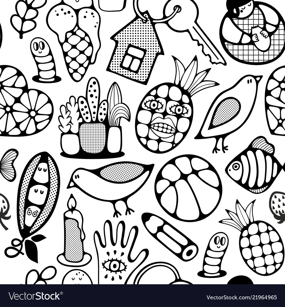 Black and white wallpaper for coloring book