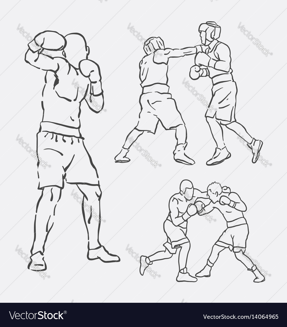 Boxing male action style