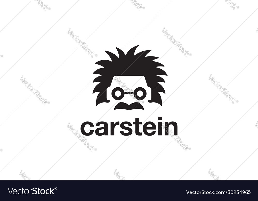 Car einstein logo design concept