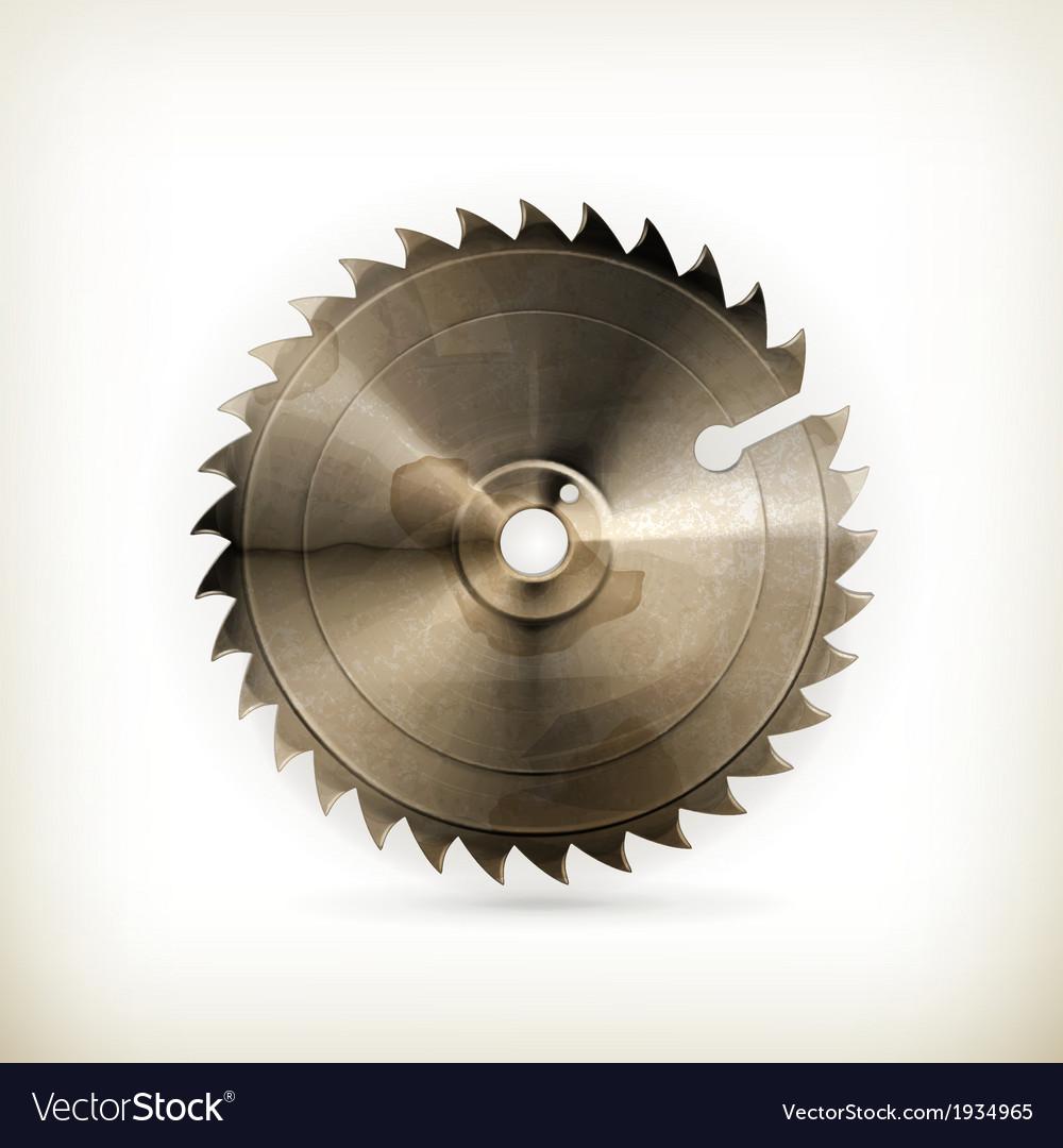 Circular saw blade old style vector image