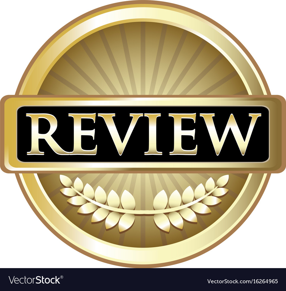 Review gold icon vector image