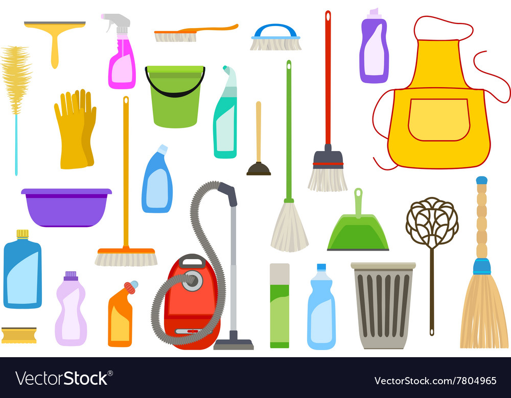 Set of cleaning supplies