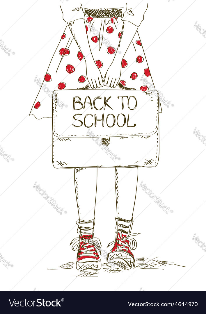 Back to school with girl