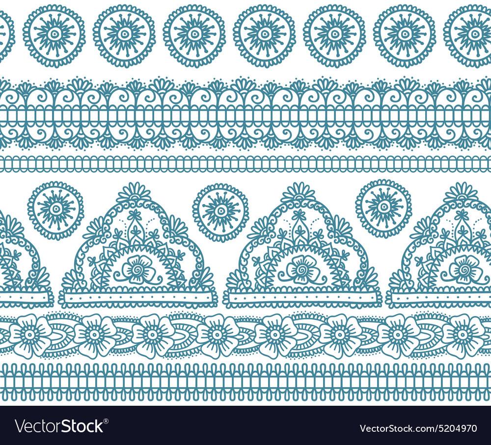 Blue indian seamless pattern