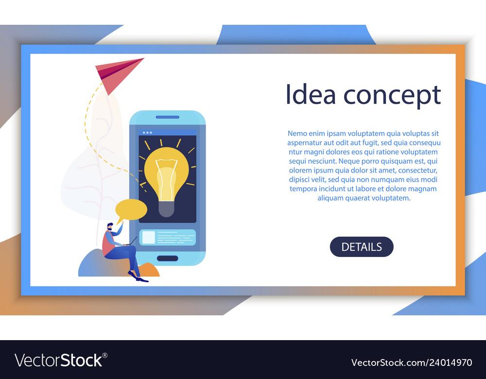 Business creative startup idea mobile app concept