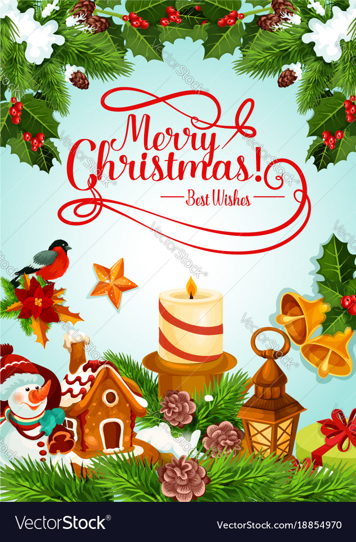 Christmas Tree Cards Designs.Christmas Holiday Candle And Xmas Tree Card Design