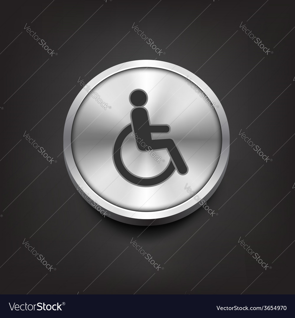 Disabled icon on silver button