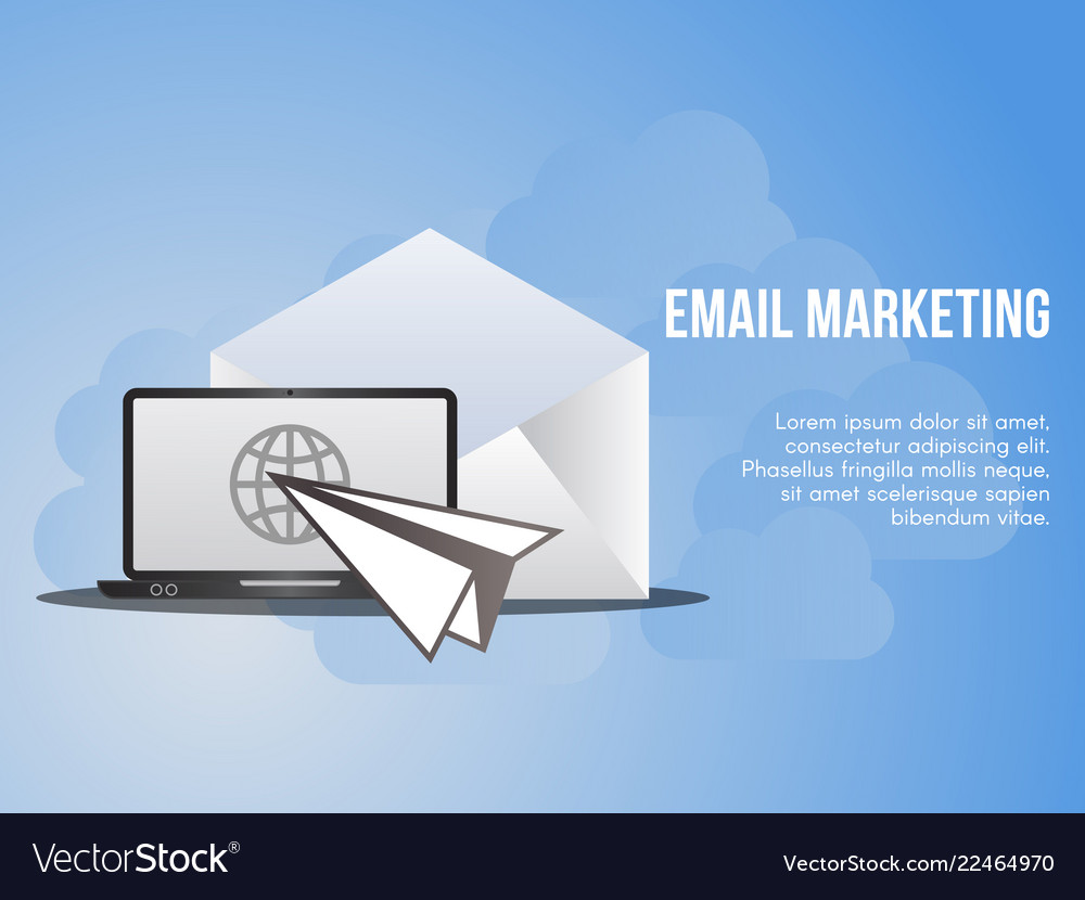 Email Marketing Conceptual Design Template Vector Image