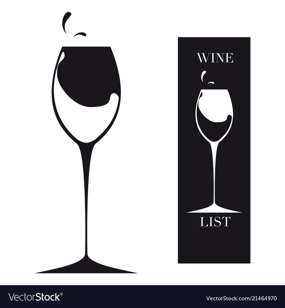 Glass For Wine Royalty Free Vector Image Vectorstock