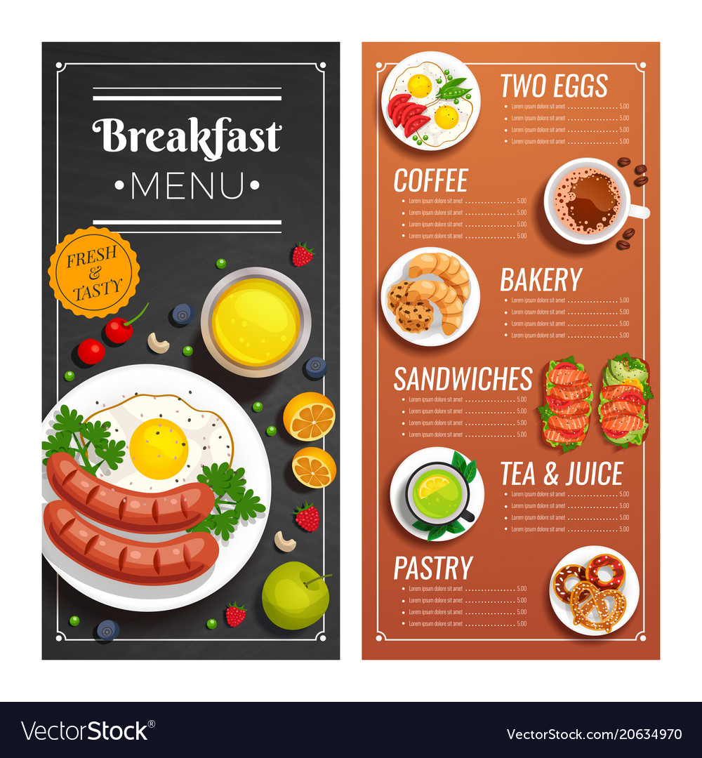 Menu Design For Cafe And Restaurant Royalty Free Vector