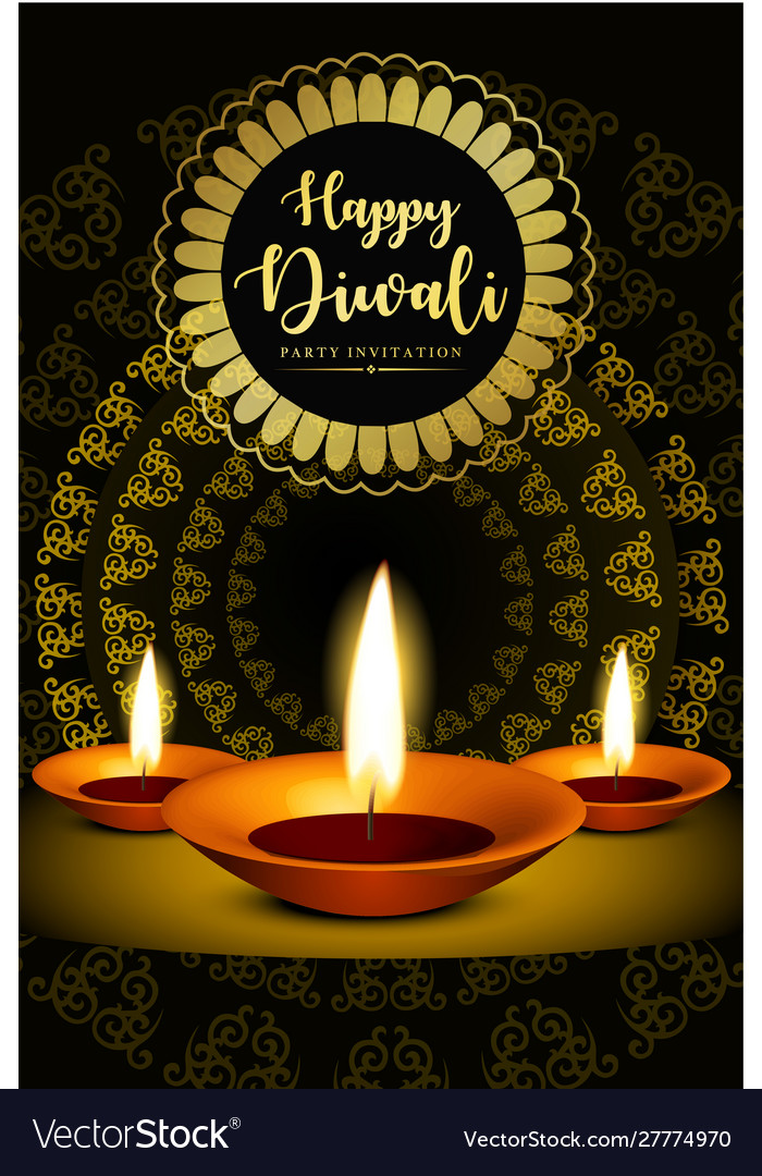 Royal Happy Diwali Religious Posters Royalty Free Vector