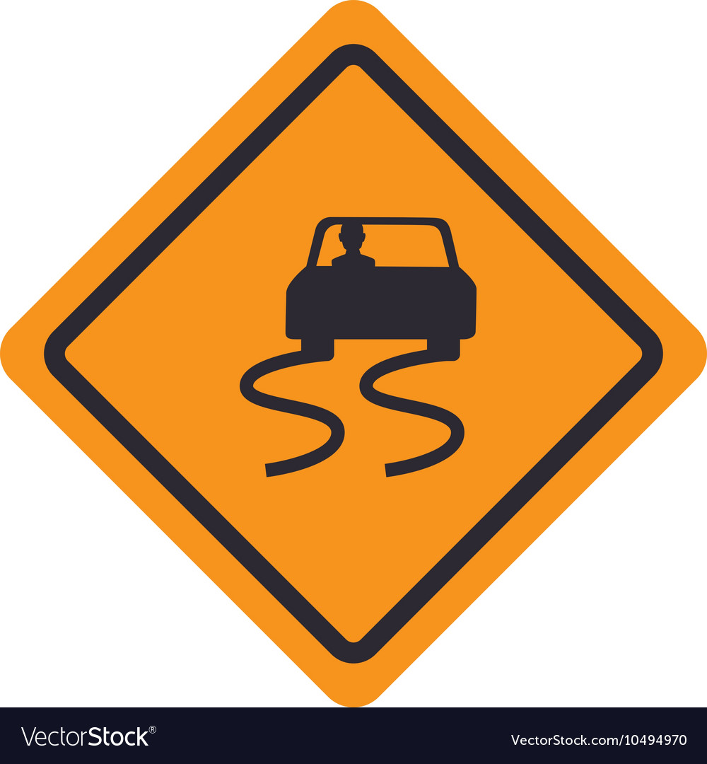 Signal traffic slipery road design