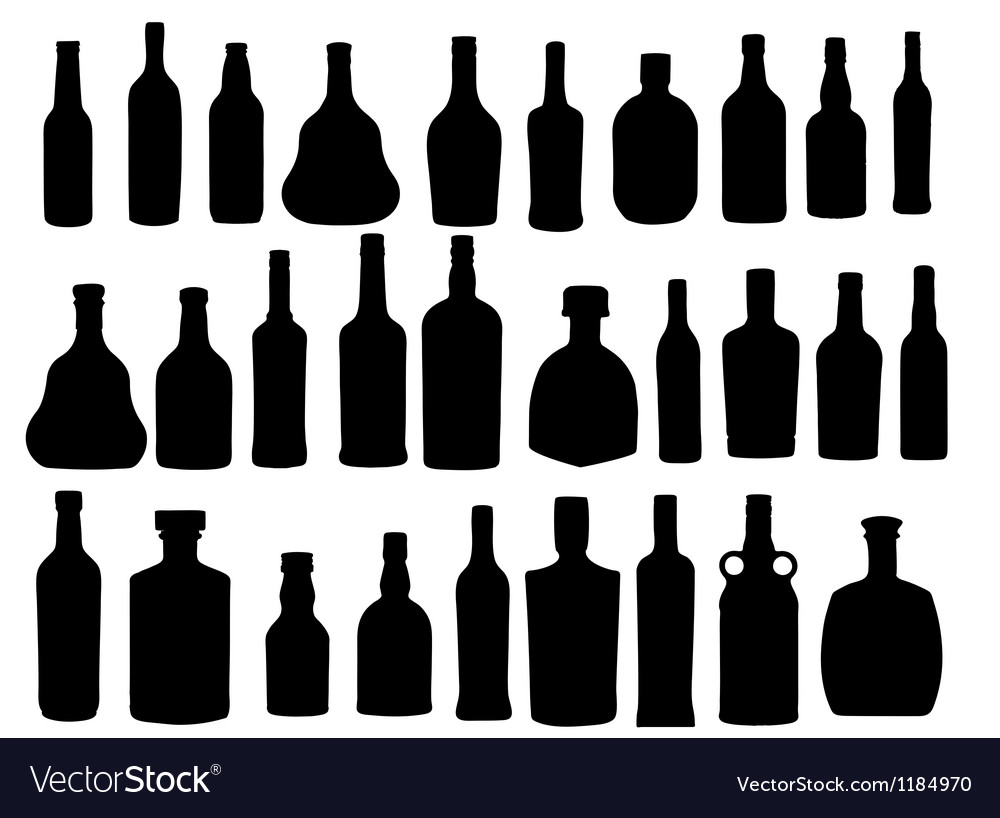 Silhouette alcohol bottle