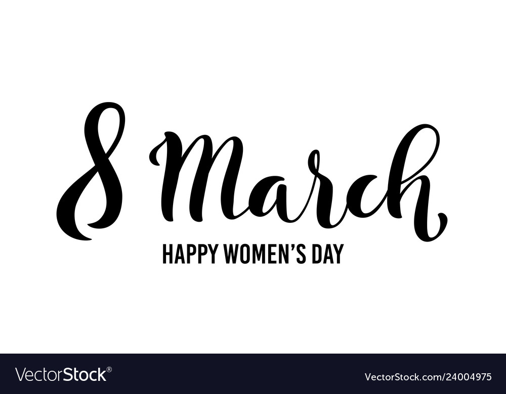8 march international womens day greeting card