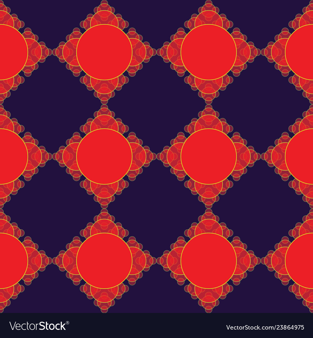 Abstract modern fractal red and purple seameless