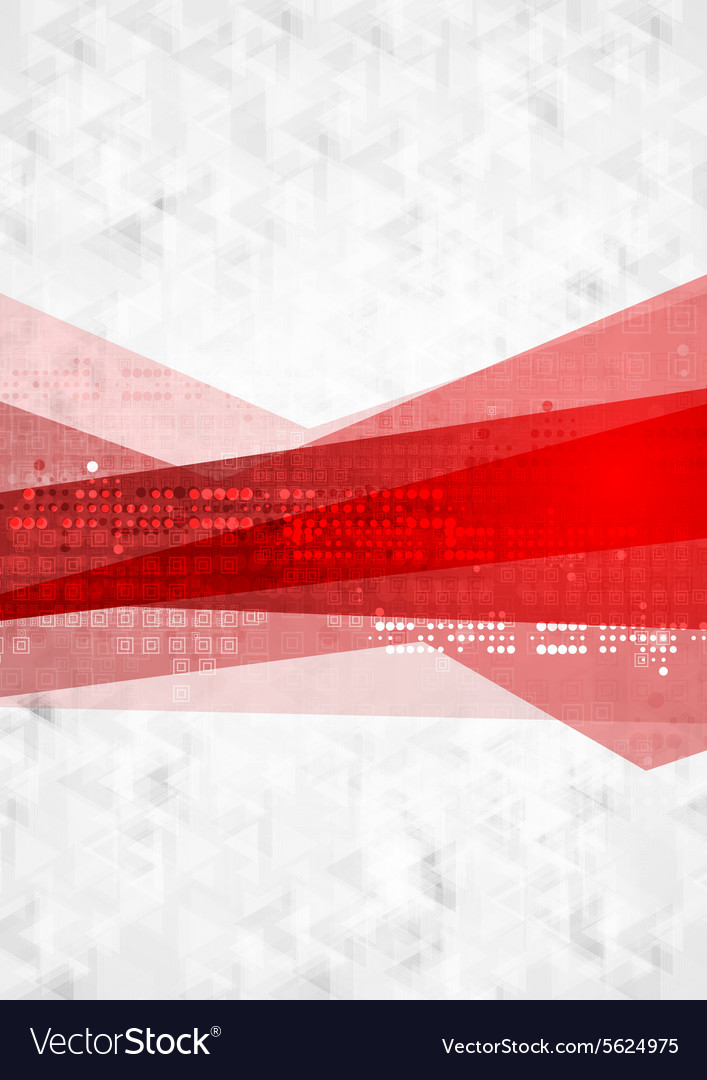Abstract red grey technology background vector image