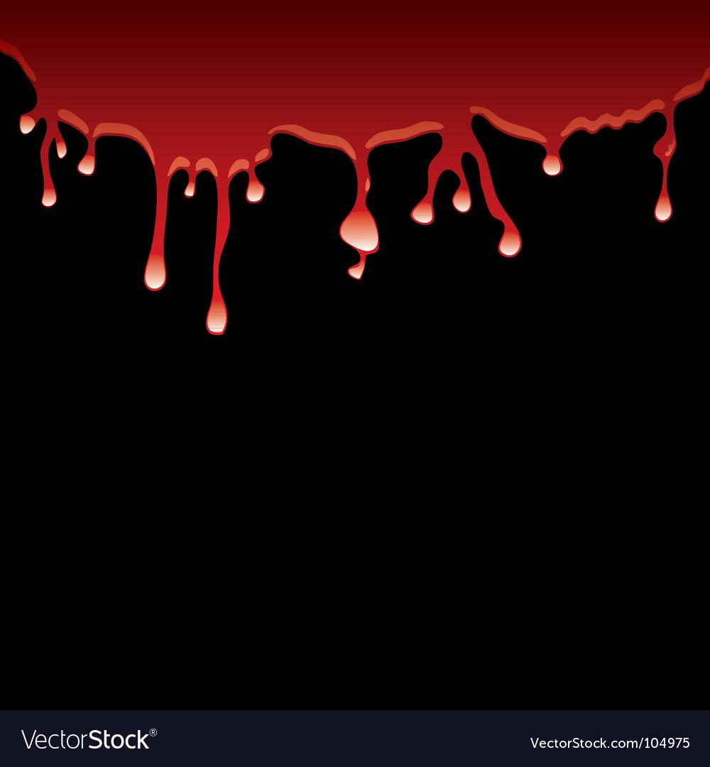 Black blood vector image