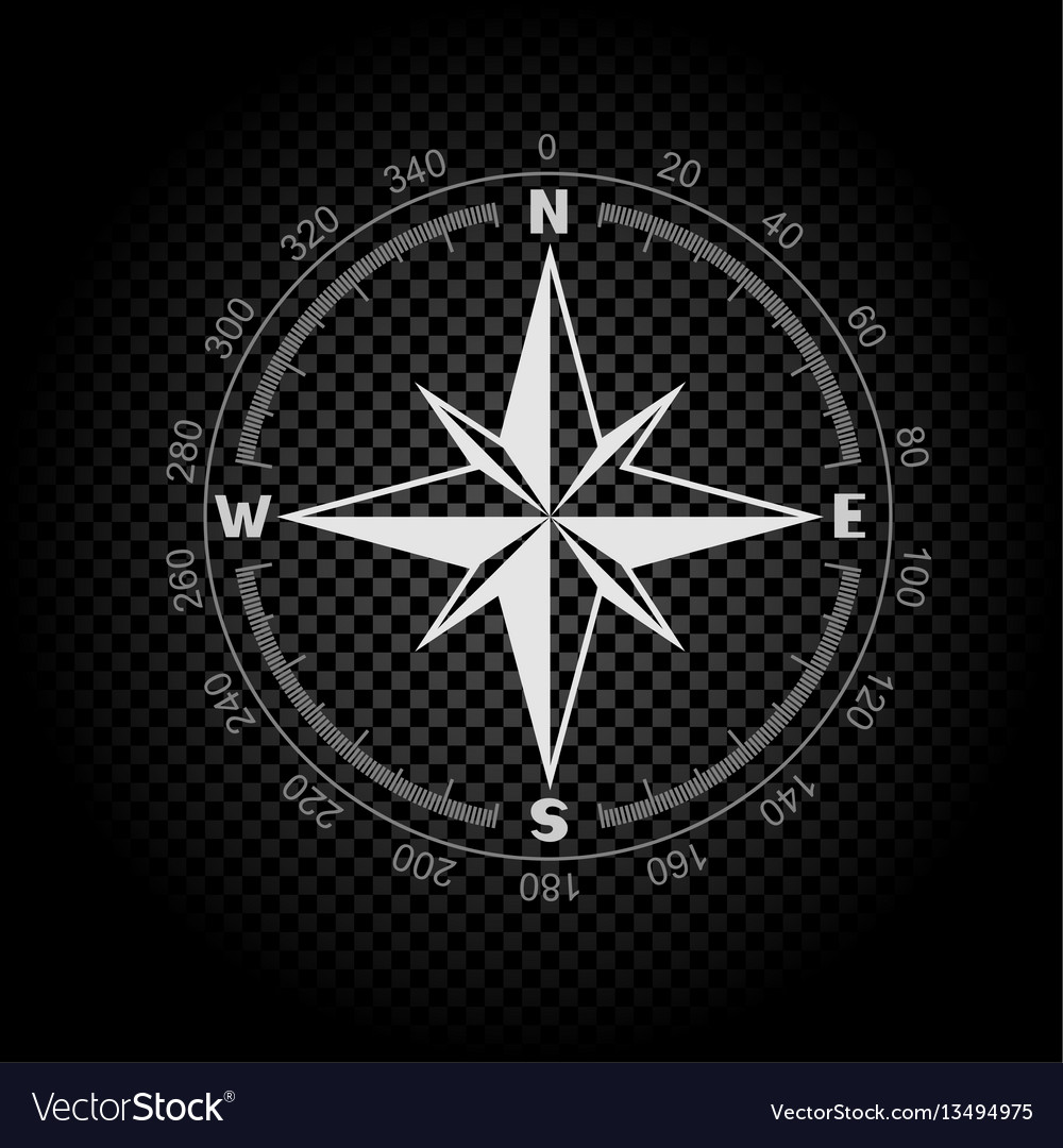 Compass directions dark background