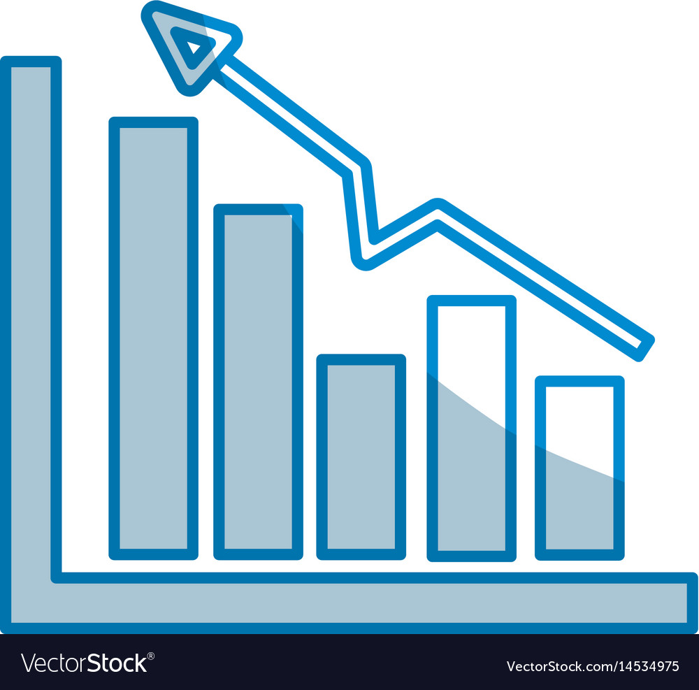 Contour business statistic data growing diagram vector image