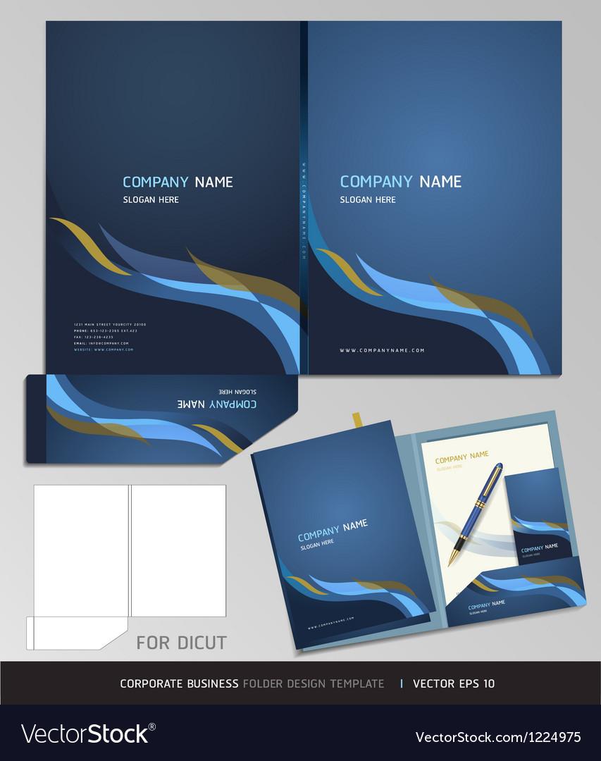 Corporate identity business set folder design
