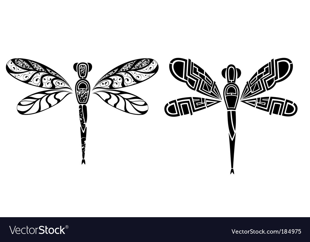 Tribal Dragonflys tattoos Design