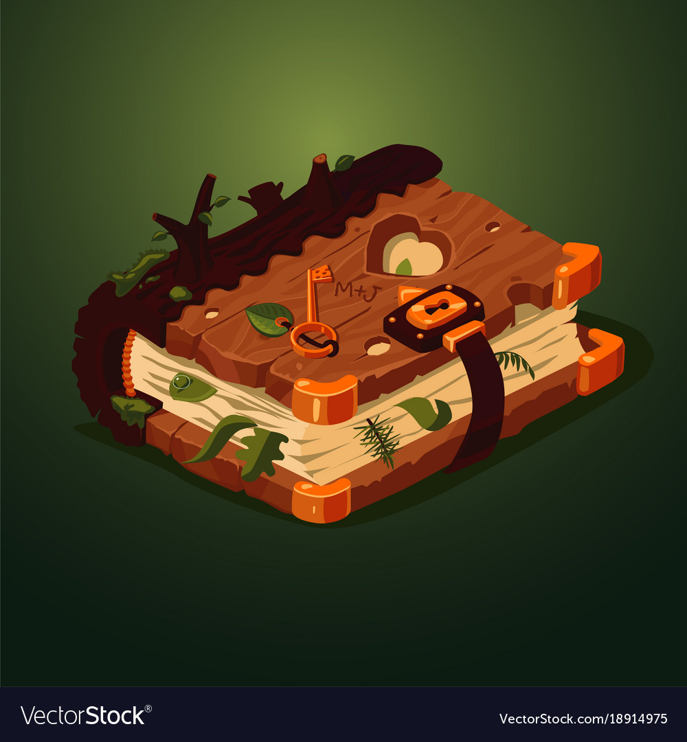 Magic forest book cartoon style game design