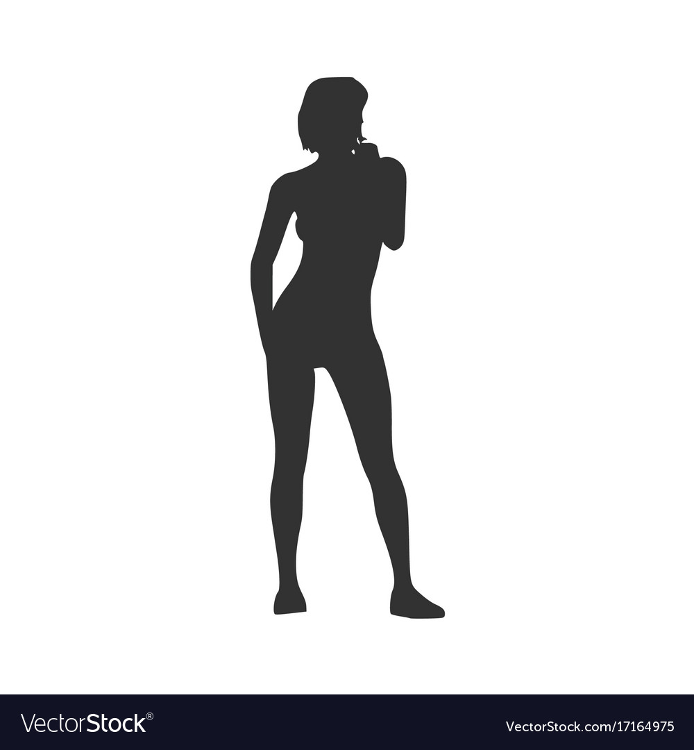 Phrase and Sexy lady silhouette images think, that