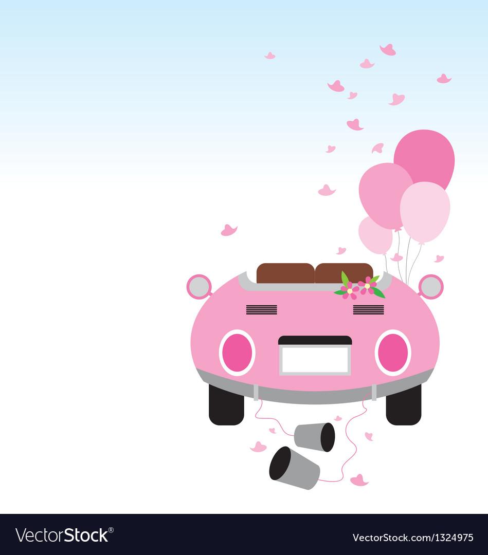 Wedding car design vector image