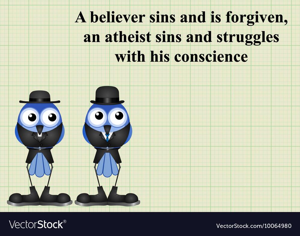 Atheism saying vector image