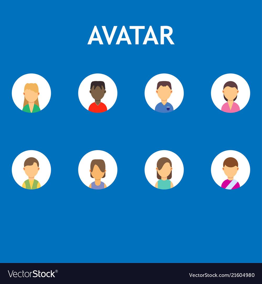 Avatar business isolated set symbol flat icon