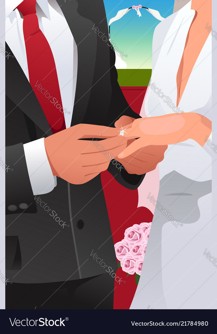 Man putting wedding ring
